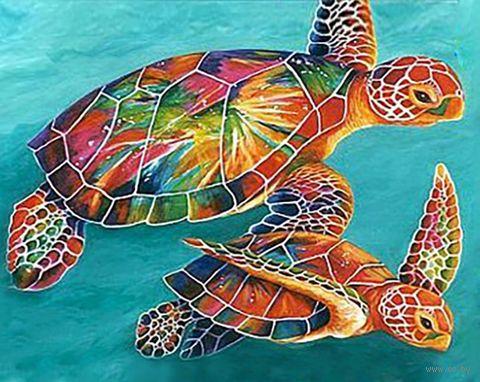"Алмазная вышивка-мозаика ""Морские черепахи"" (380х480 мм) — фото, картинка"