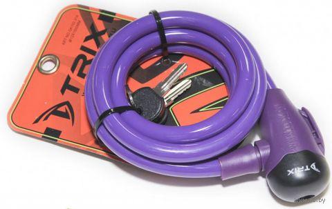 "Велозамок на ключ ""GK102.314"" (150 см; пурпурный) — фото, картинка"