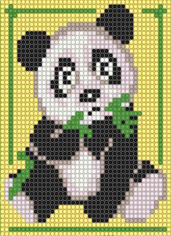 """Алмазная вышивка-мозаика """"Панда"""" (150х120 мм) — фото, картинка"""