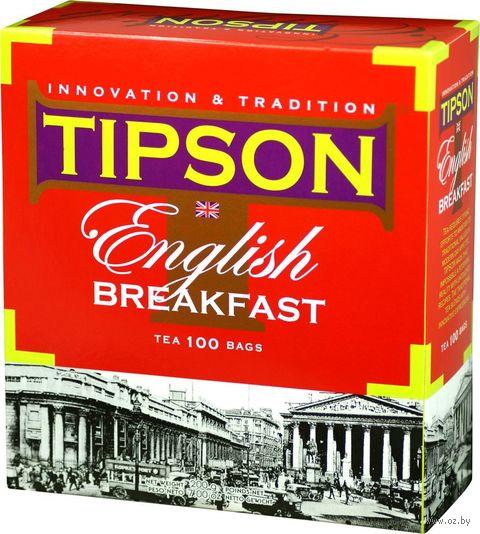 """Чай черный листовой """"Tipson. English Breakfast"""" (100 г) — фото, картинка"""