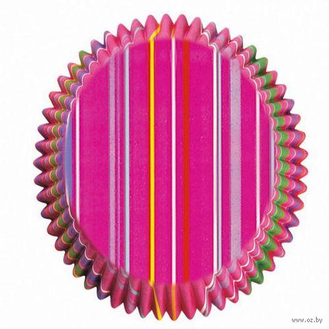 """Набор форм бумажных для выпекания кексов """"Полосы"""" (75 шт; арт. WLT-415-5381)"""