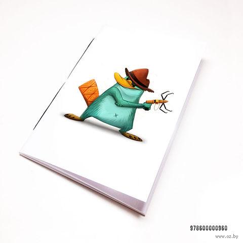 """Блокнот белый """"Финес и Ферб. Перри"""" А7 (арт. 960)"""