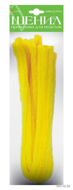 Проволока пушистая №7 (10 шт.; желтая) — фото, картинка