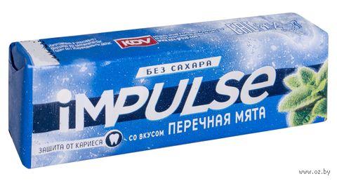 """Жевательная резинка """"Impulse. Перечная мята"""" (14 г) — фото, картинка"""
