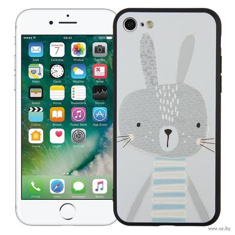 "Чехол для iPhone 7/8 ""Зайка"" (серый) — фото, картинка"