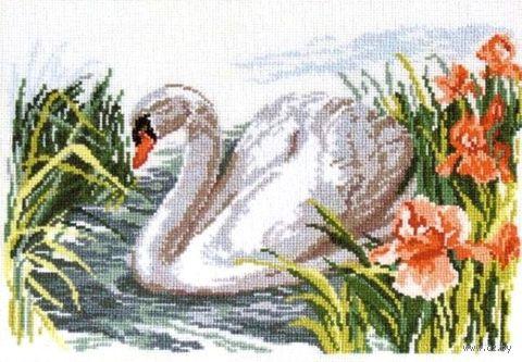 """Вышивка крестом """"Белый лебедь"""""""