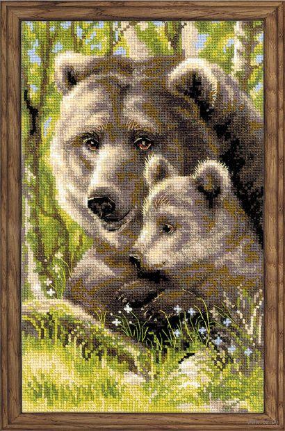"""Вышивка крестом """"Медведица с медвежонком"""" (арт. 1438)"""