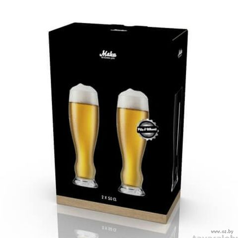 """Бокал для пива стеклянный """"Pils and Weizen"""" (2 шт.; 500 мл) — фото, картинка"""