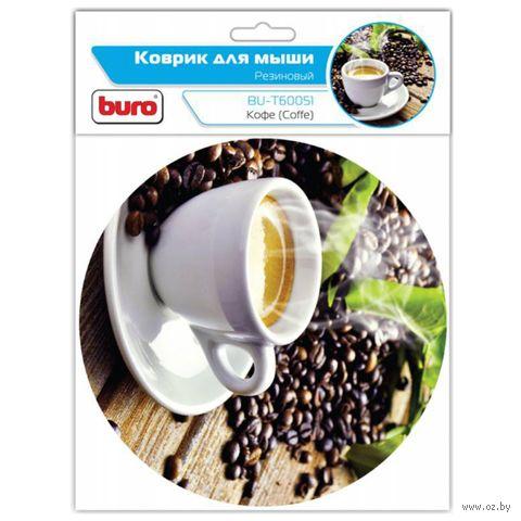 Коврик для мыши Buro BU-T60051 (рисунок/кофе) — фото, картинка