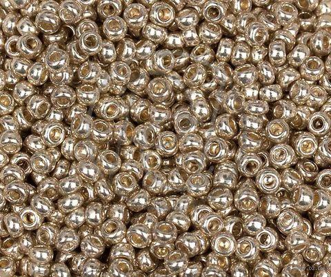 Бисер №18303 (светлое золото; металлик; 10/0) — фото, картинка