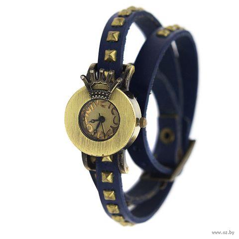 """Часы наручные """"Crown"""" (синие) — фото, картинка"""