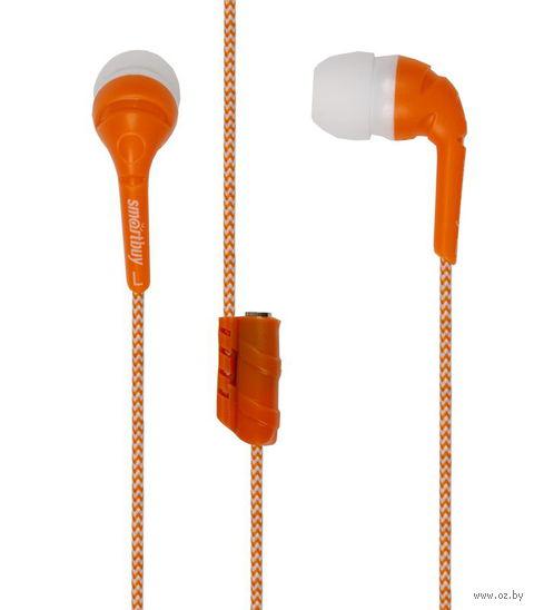 Наушники SmartBuy FRIENDS с разветвителем, оранжевые (SBE-9240)