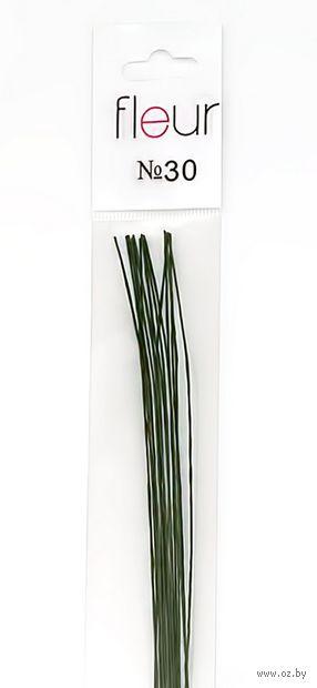 Проволока для керамической флористики №30 (300 мм; 20 шт; зеленый)