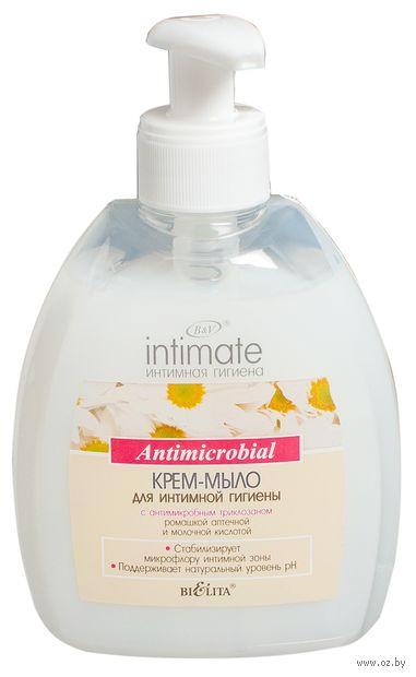 Крем-мыло для интимной гигиены с антимикробным триклозаном (300 мл)