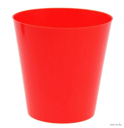 """Цветочный горшок """"Сэмпл"""" (15 см; красный) — фото, картинка"""