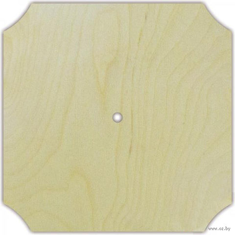 "Заготовка деревянная ""Часы"" (220х220 мм; арт. AM777114) — фото, картинка"