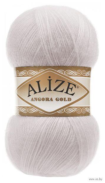 "Пряжа ""ALIZE. Angora Gold №168"" (100 г; 550 м; белая зима) — фото, картинка"