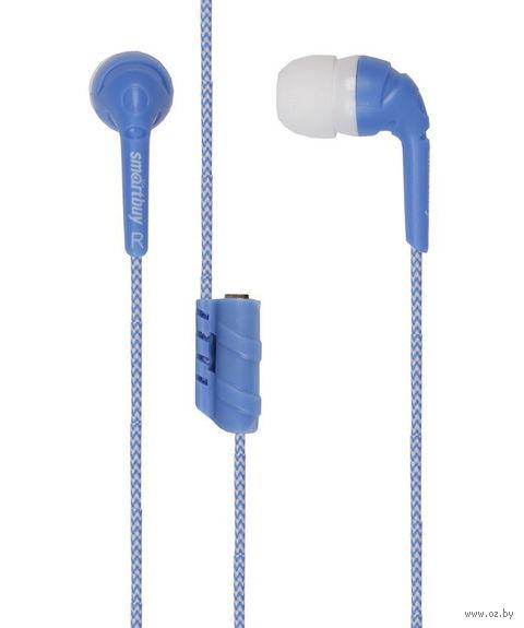 Наушники SmartBuy FRIENDS с разветвителем, синие (SBE-9220)