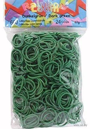 """Набор резиночек для плетения """"Rainbow Loom. Темно-зеленые"""""""