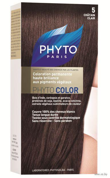 "Краска для волос ""Phytocolor"" (тон: 5, светлый шатен)"