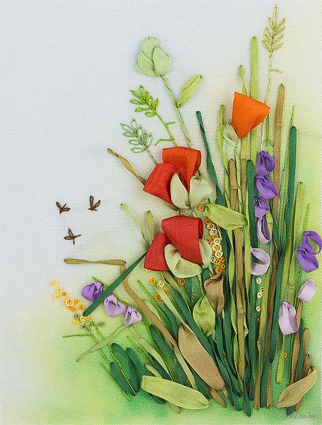 """Набор для вышивания """"Полевые цветы. Маки"""" (110х150 мм) — фото, картинка"""