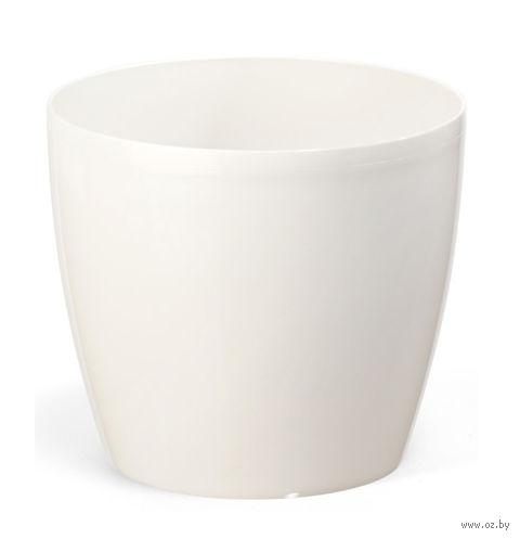 """Кашпо """"Magnolia"""" (15,5 см; белое) — фото, картинка"""