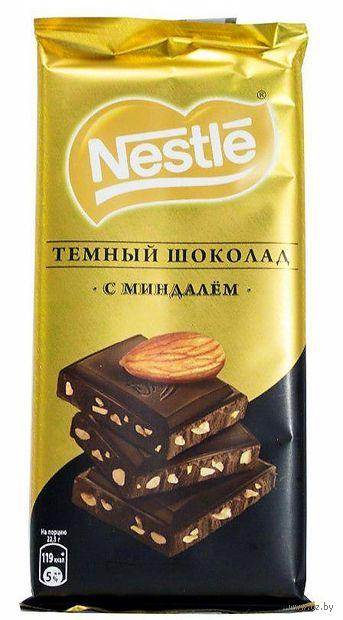 """Шоколад темный """"Nestle. С миндалем"""" (90 г) — фото, картинка"""