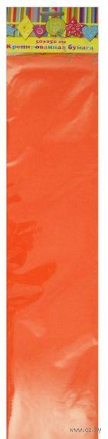 Бумага крепированная (оранжевый)