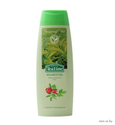 """Шампунь против выпадения волос """"Зеленый чай с мятой и шиповником"""" (400 мл)"""