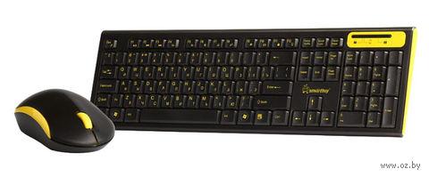 Беспроводной комплект Smartbuy клавиатура+мышь 23350AG Black/Yellow (SBC-23350AG-KY)