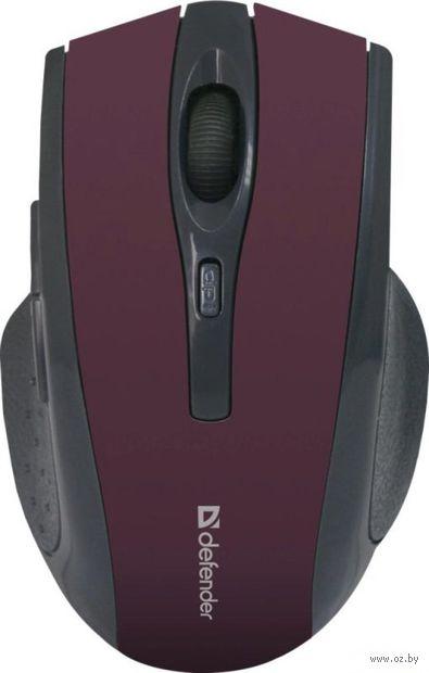 Беспроводная оптическая мышь Defender Accura MM-665 (красная) — фото, картинка
