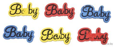 "Пуговицы декоративные ""Baby"" (6 шт.; I1579-DW2) — фото, картинка"