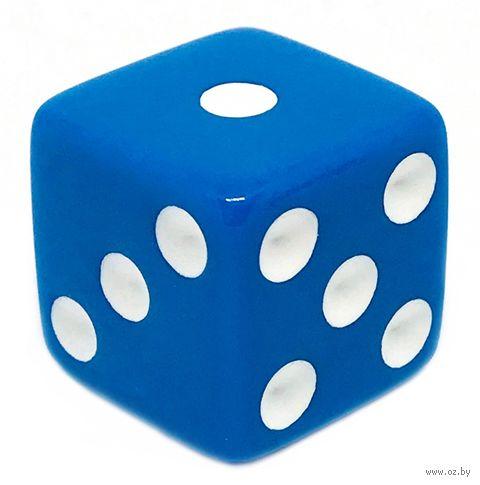 """Кубик D6 """"Простой"""" (16 мм; сине-белый) — фото, картинка"""
