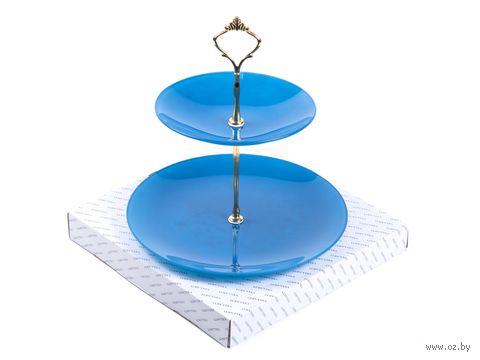 Горка стеклянная (синяя) — фото, картинка