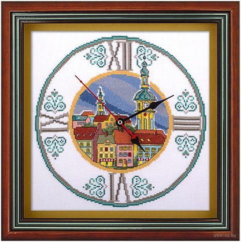 "Вышивка крестом ""Часы на старой ратуше"" (250х250 мм) — фото, картинка"