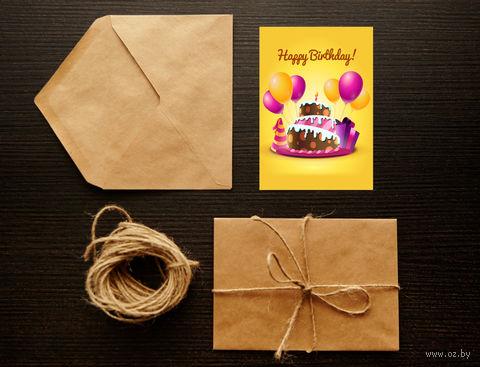 """Открытка """"Happy Birthday"""" (art. 2)"""