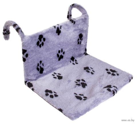 """Гамак для кошек """"Лапки"""" (43х32х20 см; серый) — фото, картинка"""