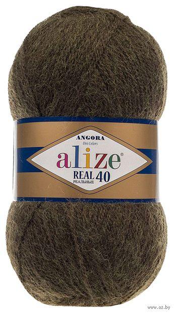"Пряжа ""ALIZE. Angora Real 40 №567"" (100 г; 480 м; зеленый меланж) — фото, картинка"