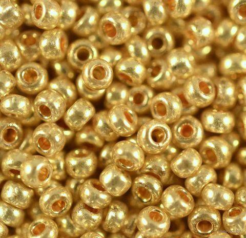Бисер №18383 (золотой; металлик; 10/0) — фото, картинка