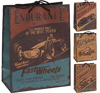 Пакет бумажный подарочный (в ассортименте; 26х12х33 см; арт. C37777040; продается только в розничных магазинах OZ) — фото, картинка