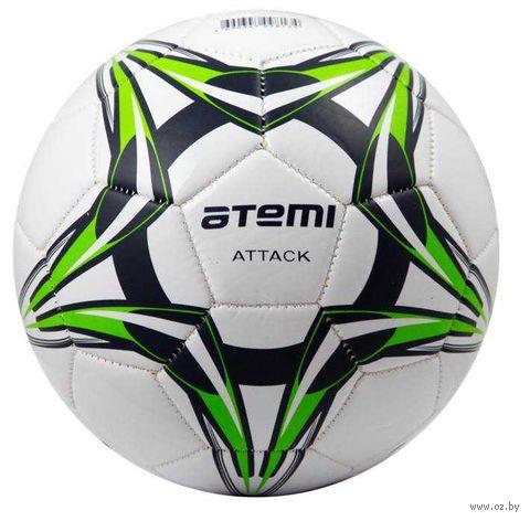 """Мяч футбольный Atemi """"Attack"""" №5 (бело-сине-салатовый) — фото, картинка"""