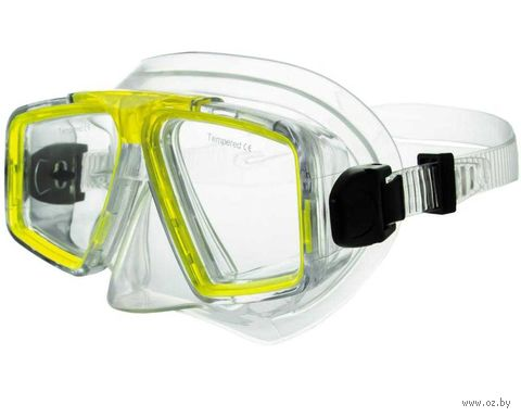 Маска для плавания 424 (ПВХ; жёлтая) — фото, картинка