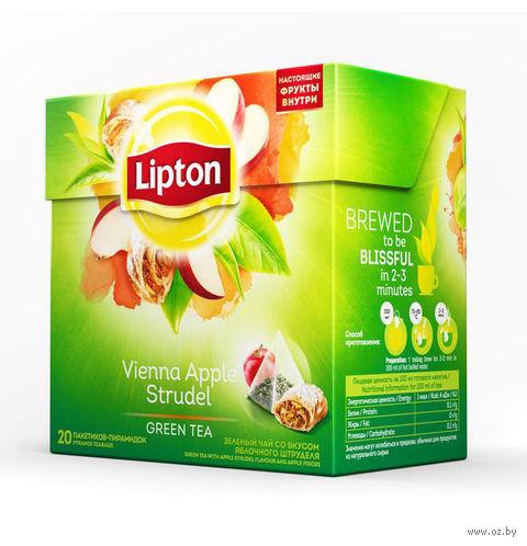 "Чай зеленый ""Lipton. Vienna Apple Strudel"" (20 пакетиков) — фото, картинка"