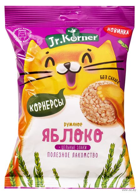 """Мини-хлебцы """"Jr. Korner. Со вкусом яблока"""" (30 г) — фото, картинка"""