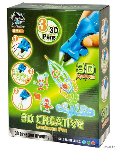 """3D ручка детская """"Rich Fish Toys"""" (красная+синяя+зелёная; люменисцентные) — фото, картинка"""