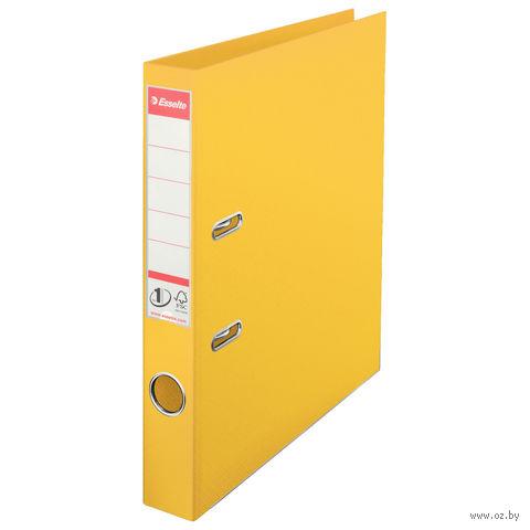 Папка-регистратор А4 с арочным механизмом, 50 мм (ПВХ, желтая)