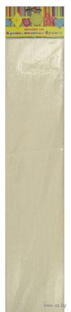 Бумага крепированная перламутровая (белый)