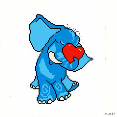 """Вышивка крестом """"Влюбленный слон"""""""