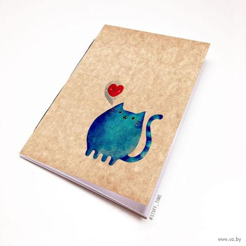 "Блокнот крафт ""Милый котик"" А6 (808)"