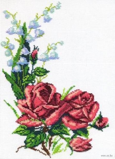 """Набор для вышивания """"Розы и колокольчик"""""""